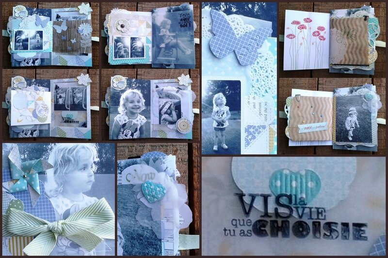 mini-album stampin'Up! atelier tout en douceur