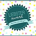 Liebster award second !!!