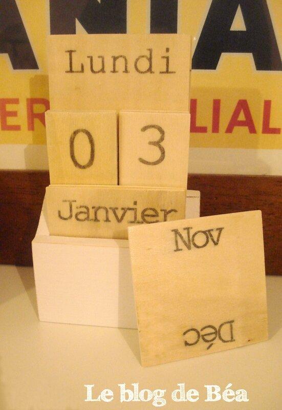 DIY calendrier perpétuel en cagettes et bois de palette