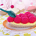 Crochet ~ tarte gourmande aux fruits