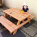 La table d'extérieur pour enfant de Sandra