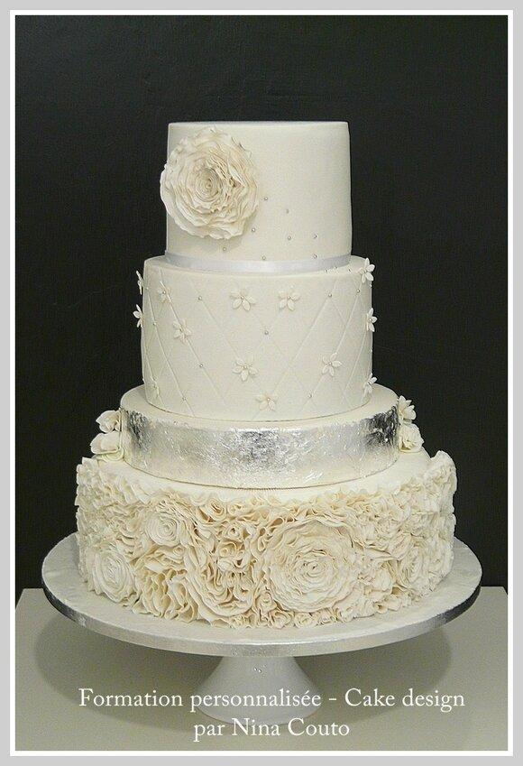 wedding cake blanc argent nimes Angelique 5jpg