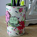 Tuto pot à crayon fête des mères pour gfm