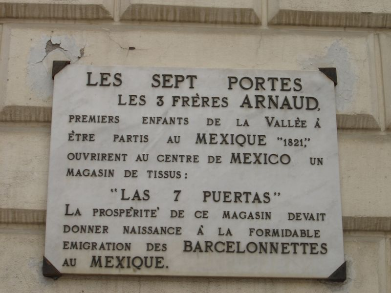Barcelonnette-Plaque