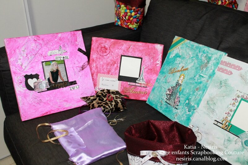 Stage enfants scrapbooking couture aix les bains Atelier nesiris5
