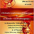Prochain concert de la chorale strasbourgeoise avec la chorale