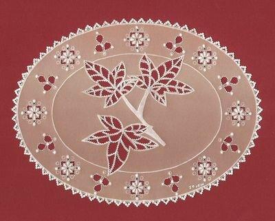 carte feuilles, d'après un modèle de parchment craft septembre 2011 (août 2011)