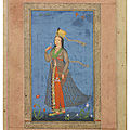 A european lady in indian dress, deccan, probably golconda, second half 17th century