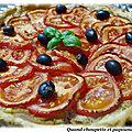 Tarte au thon et a la tomate