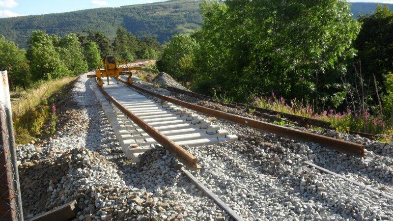 Renouvellement de la voie au Passage à niveau entre Chasseradès