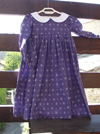 Robe Meg violet & blanc 2