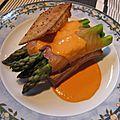 Fagotins d'asperges vertes au saumon fumé (4 p)