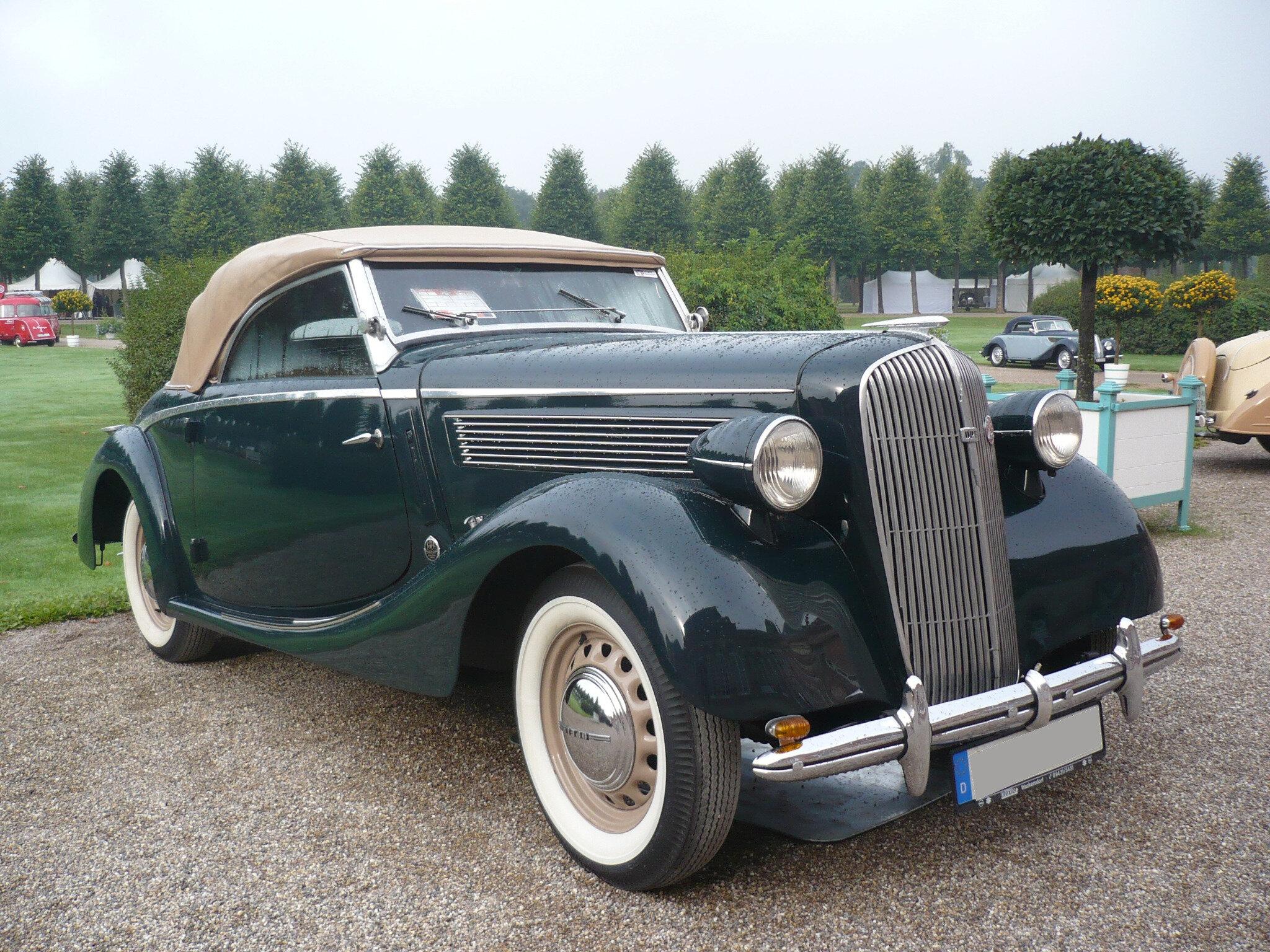 OPEL Super Six 2.5 Liter cabriolet Gläser 1937 Schwetzingen (1)