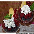 Fruits rouges frais en verrine