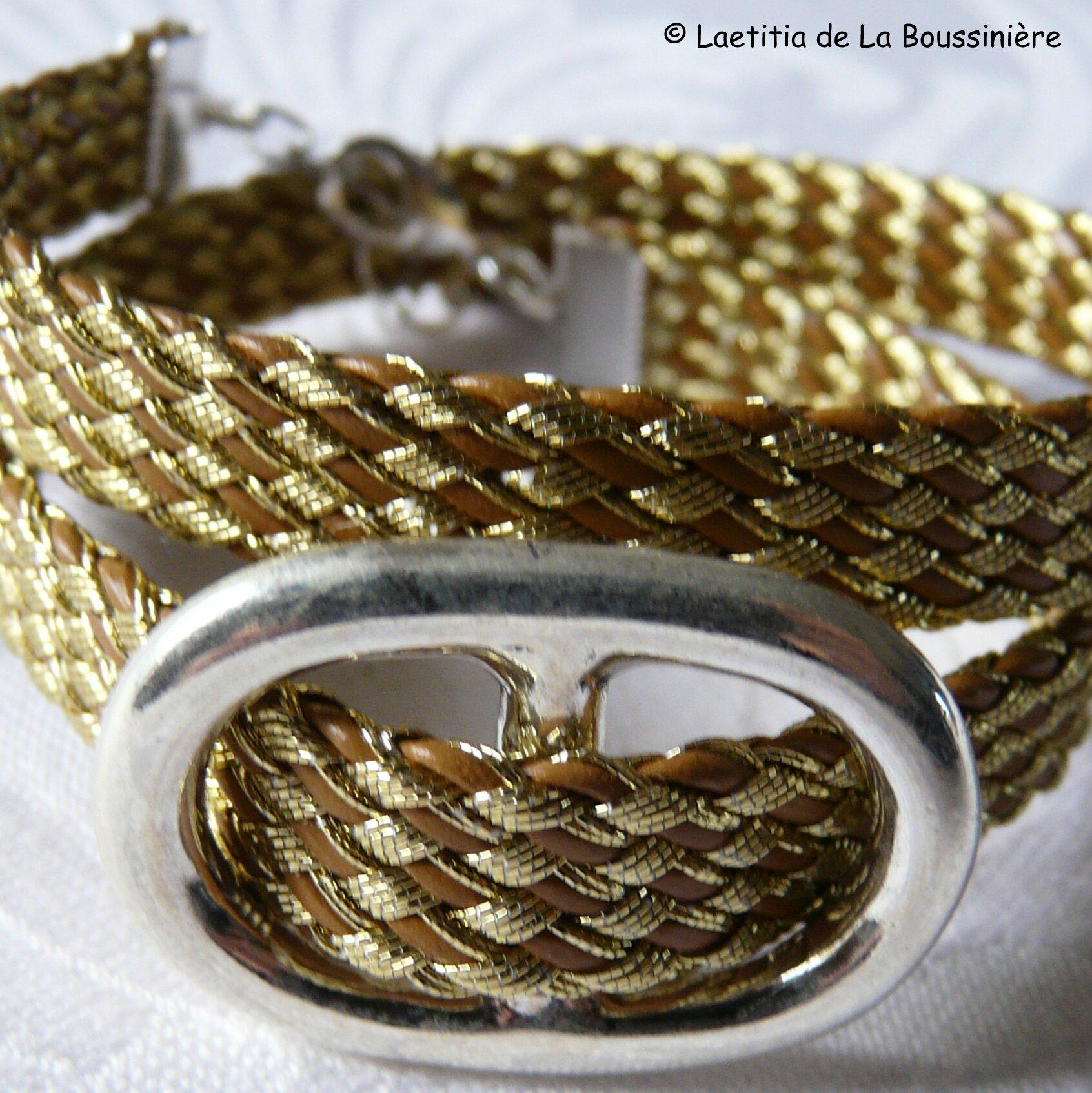 Bracelet Grain de Café (doré)