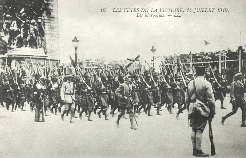 Marocains 14 juillet 1919 défilé