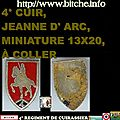 4° CUIR, JEANNE D' ARC, MINIATURE 13X20, À COLLER