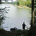 Valjoly - le lac vu de la rive sud