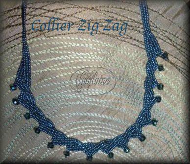 Collier zigzag