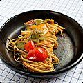 Spaghetti aux poivrons et paprika