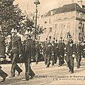 Carte postale à dater : défilé de sapeurs-pompiers à belfort