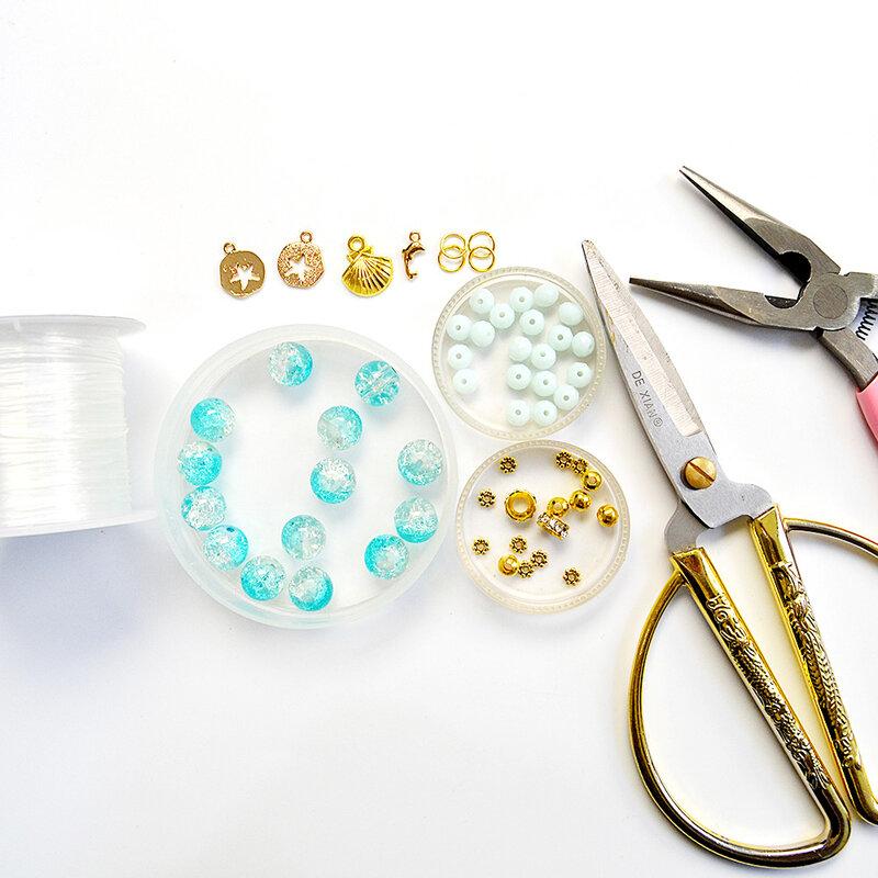 PandaHall Ideal on Making Blue Crackle Bracelets-1