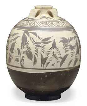 a_chinese_cizhou_type_brown_painted_ovoid_jar_yuan_dynasty_13th_14th_c_d5453886h