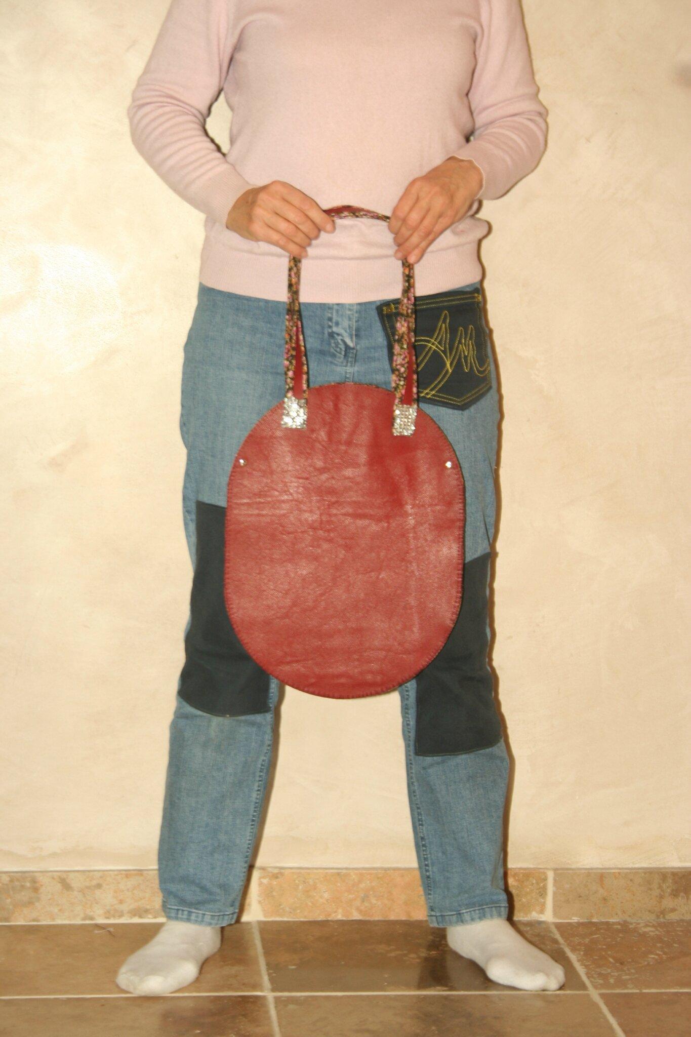 sac oval en cuir