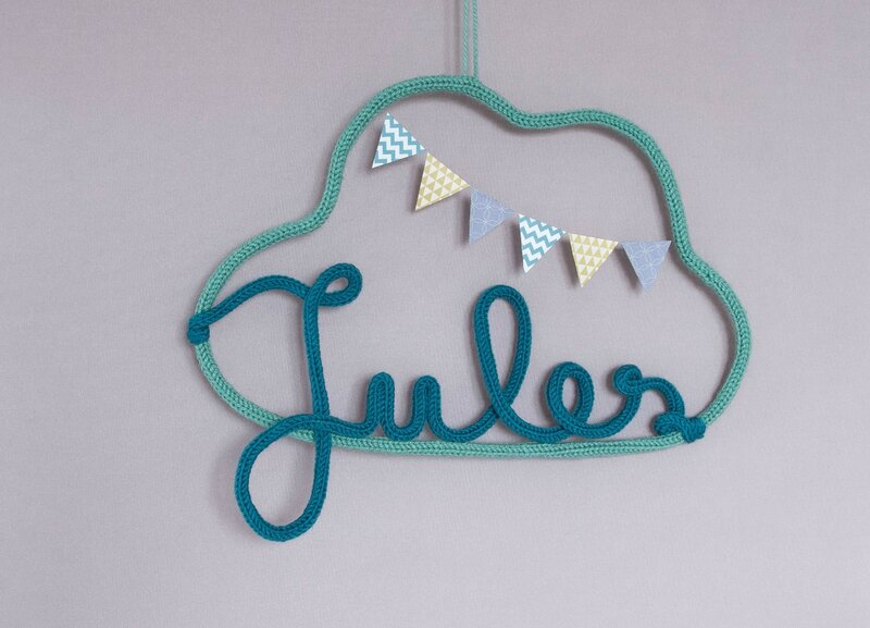 mobile nuage tricotin Jules