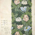 The v&a acquired at auction two rare designs created and inscribed by william morris