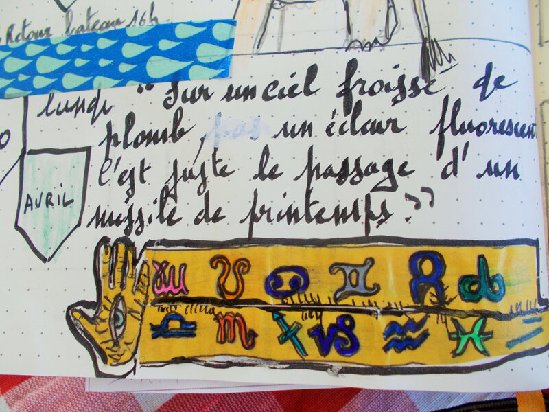 phrase et collage avril