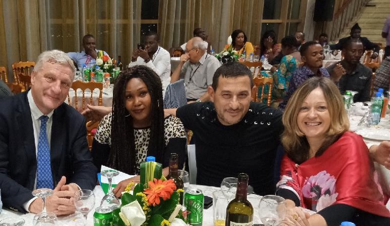 De gauche à droite Bruno FANUCCHI Carmen FEVILIYE Robert KASSOUS et Cécile VRAIN lors de la soirée SOPECAM au Palais des congrès de_