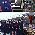 Air france fête les premiers vols de son boeing 787 avec ses clients
