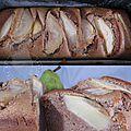 Cake aux poires à la farine de châtaigne