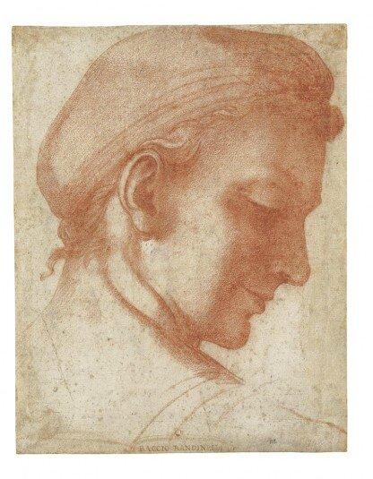 Baccio Bandenelli Etude de tête 1518