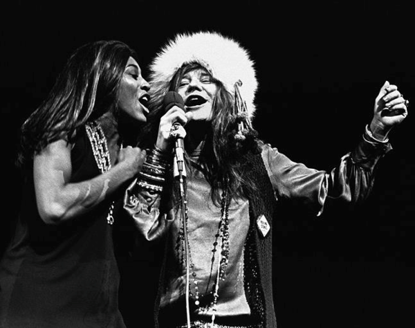 Tina Turner and Janis Joplin onstage at Madison Square Garden in New York on November 27, 1969