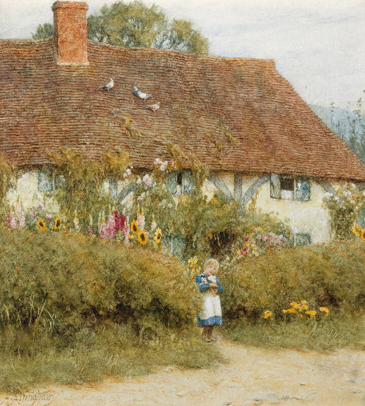 cottage-at-west-horsley-surrey-helen-allingham