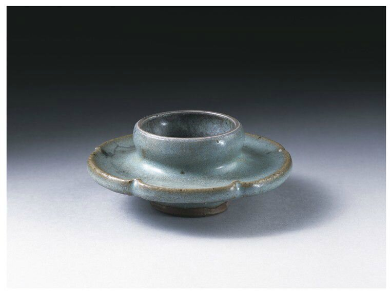 Cupstand, Blue Jun ware, China, Northern Song-Jin dynasty, 12th century