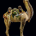 A massive sancai-glazed pottery figure of a Bactrian camel, Tang dynasty (618-907) (3)