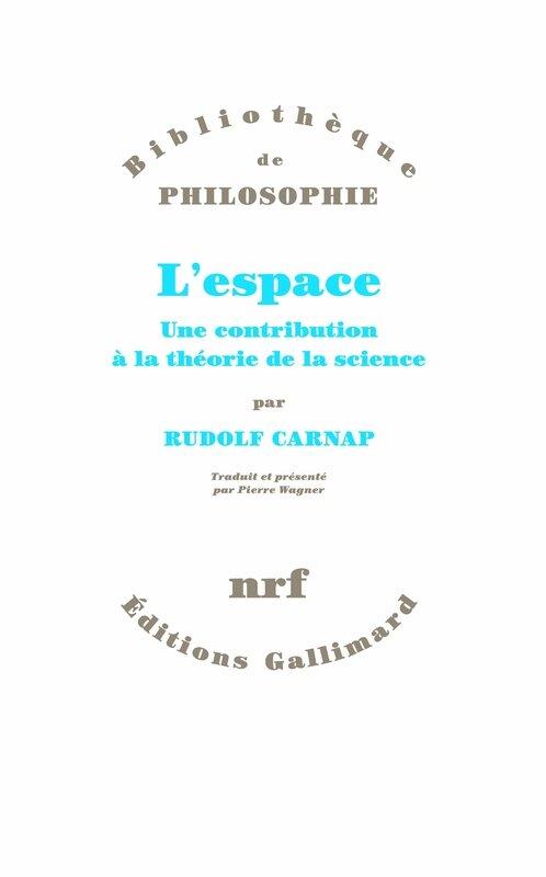 CARNAP Rudolf, L'espace, couv