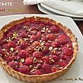 Tarte aux fraises d'automne et aux pistaches, sans gluten
