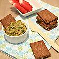 Tartinade (dip) de fanes de radis crues, tomates séchées & tofu soyeux...ig bas