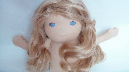 Naturel pony blond long