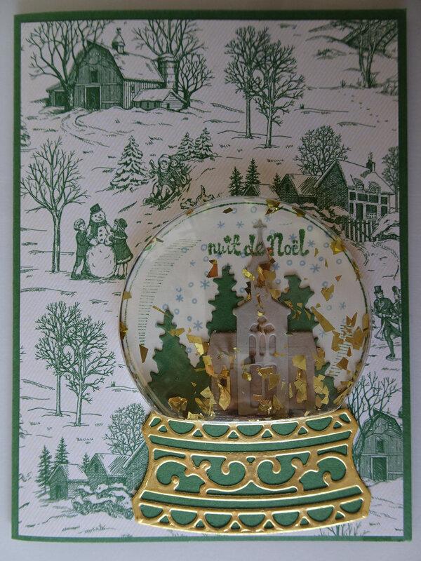 4b Carte Still scene Boule paillettes or