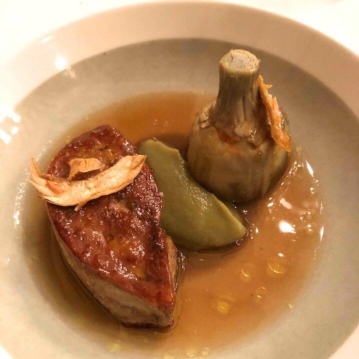 Artichaut et foie gras poêlé N°11 (1)