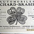 Brasier automobile trefle publicite ancienne au 3