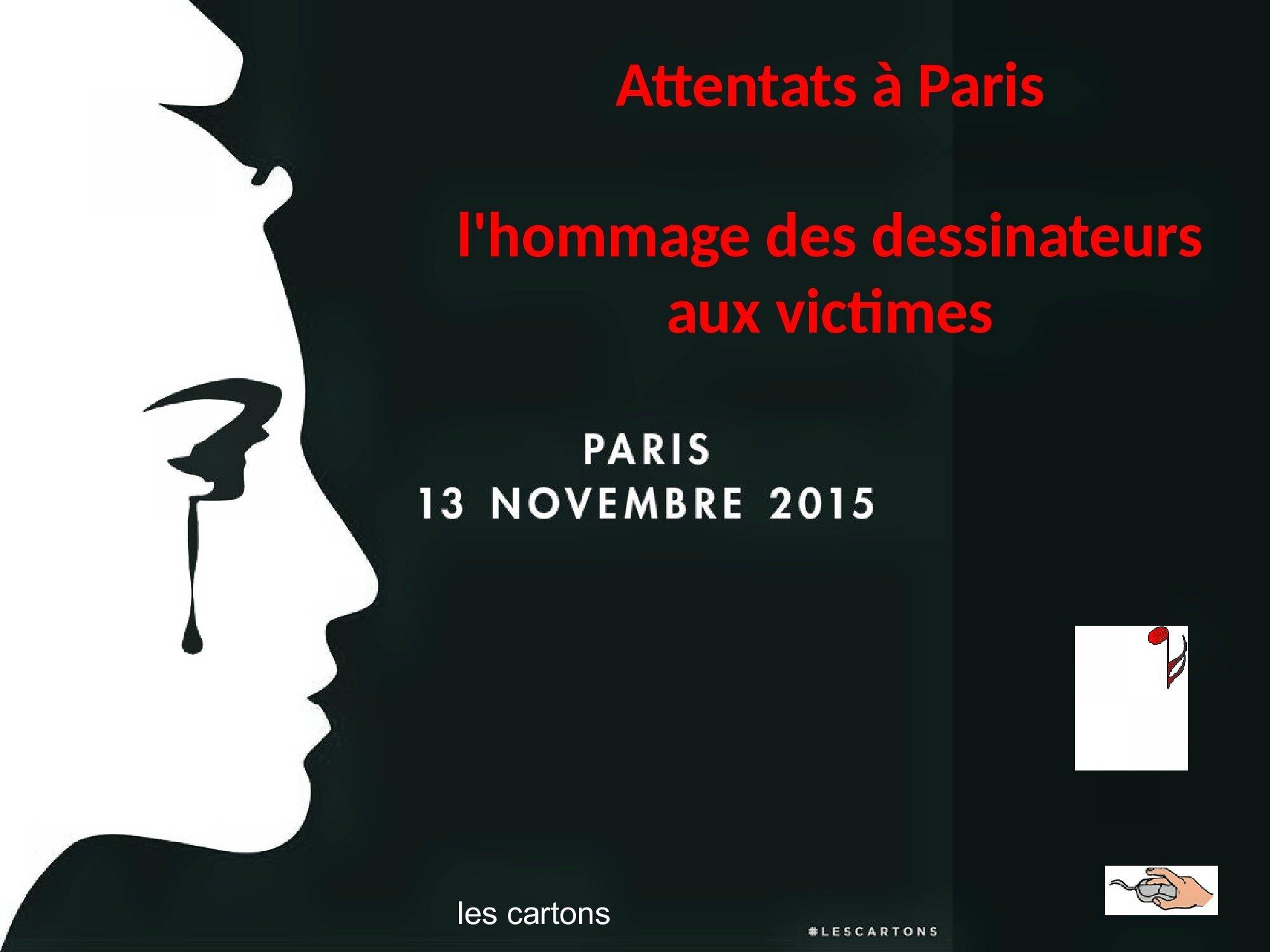 HOMMAGE des dessinateurs aux victimes des attentats de Paris 13 novembre 2015 (0)
