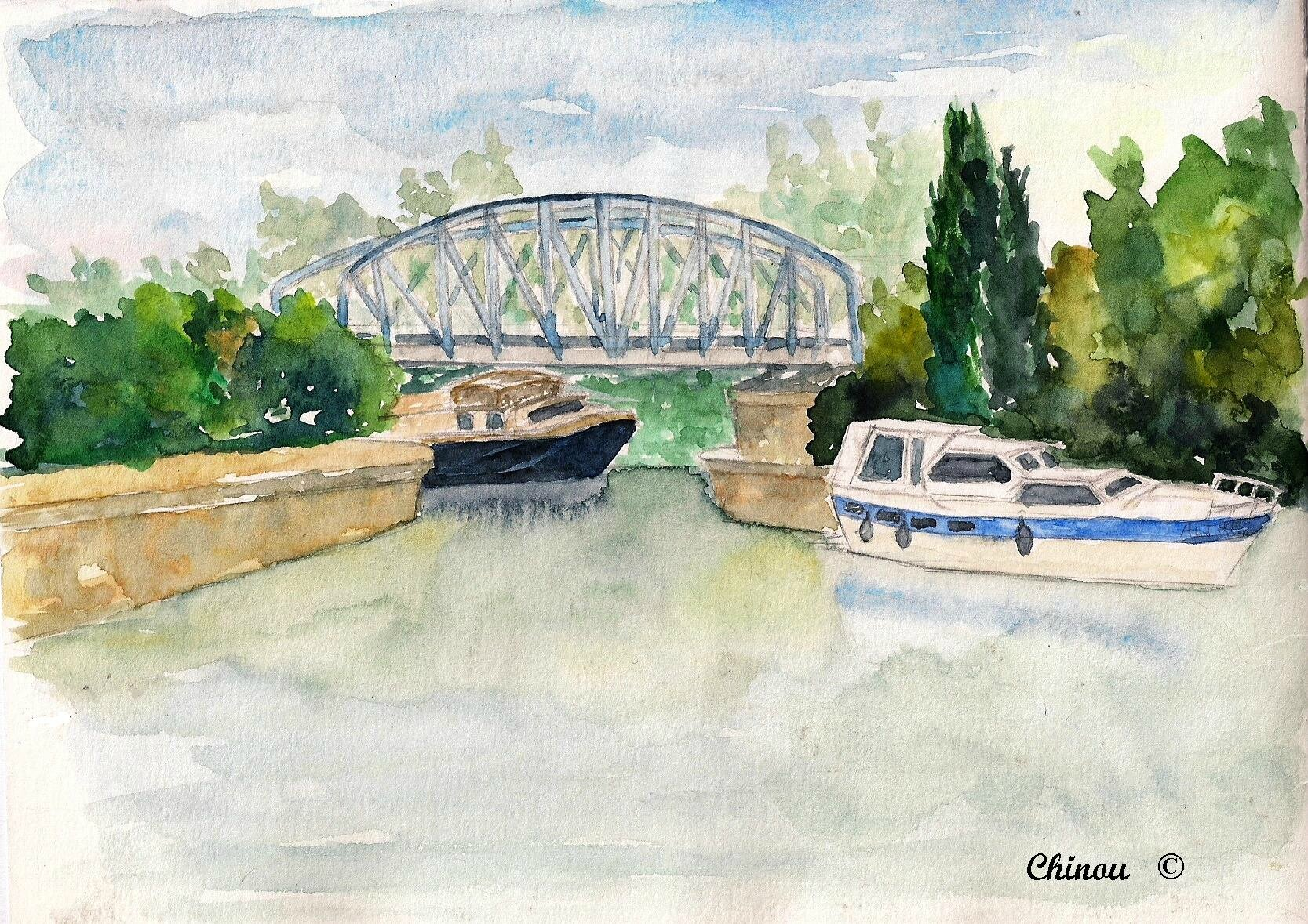 Beaucaire - le canal