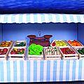 vitrine fruits et légumes du marché 1