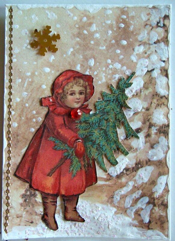 envoyée à Sylvie MUTZENBERG Petite fille robe rouge (Garlou)